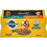 Pedigree New 368153 Homestyle Choice 13.2Z Variety Pack (24-Pack) Dog Food Wholesale Bulk Pets Dog Food Boys