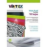 Pack 10 hojas A4 de Vinilo Textil Colores Surtidos