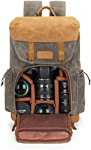 Camera Backpack Abonnyc camera bag case Waterproof Anti Theft Photography Travel Rucksack for DSLR SLR Nikon Canon Sony Laptop Green