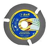 S&R Disco de corte madera 125 / Hoja Sierra Circular para Amoladora. Carburo de Tungsteno para cortar Madera / Plástico / Paneles de yeso / Aerocrete / Parquet
