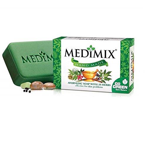 Medimix Lot de 3 savons ayurvédiques Vert 75 g