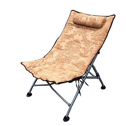 Accueil Extérieur Individuel Pause déjeuner Chaises Chaise longue N Chaises pliantes Chaise longue Fauteuil Chaises longues (Couleur : Marron)