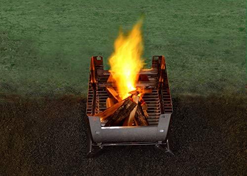 GREENLIFE(グリーンライフ)『OCB-32フタつき折りたたみバーベキューコンロ』