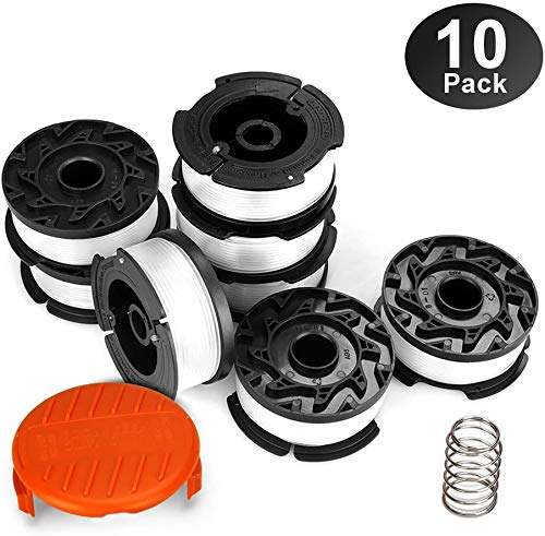 "Eventronic String Trimmer Replacement Spool, 240ft 0.065"" Autofeed Replacement Spools - Compatible with Black+Decker String Trimmers(8-Line Spool + 1 Cap+1 Spring)"