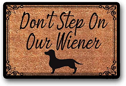 solatman niet stap op onze Wiener welkom mat kokos deur mat teckel deurmat 45x75CM
