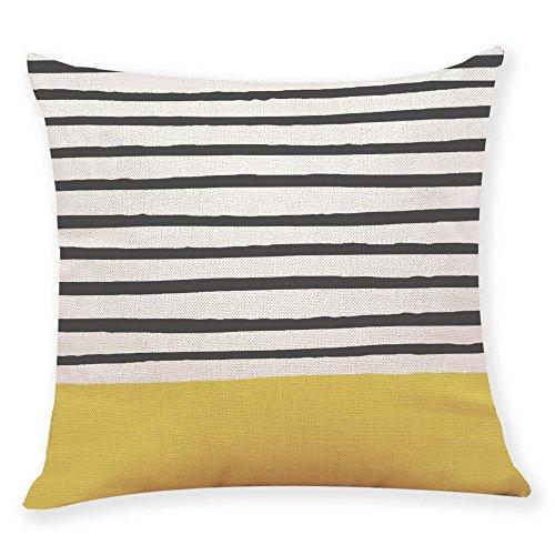 Transwen - Fundas de cojín Decorativas, 45 cm x 45 cm, Color Amarillo, b, 45 x 45 cm