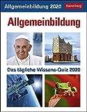 Allgemeinbildung Wissenskalender. Tischkalender 2020. Tageskalendarium. Blockkalender. Format 12,5 x 16 cm - Harenberg