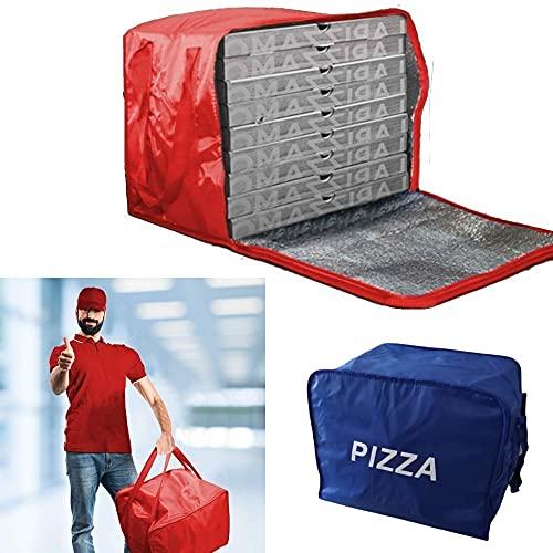 FAST WORLD SHOPPING ® Borsa Porta Pizze Zaino Termico Portapizze Cibi Bevande Contenitore Da Trasporto