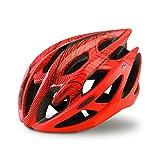 Casco Bicicleta Yuan Ou Casco Profesional de Bicicleta de montaña de Carretera con Gafas Ultraligero DH MTB Casco de Bicicleta Todo Terreno Casco de Ciclismo Deportivo L (58-62) Naranja Rojo
