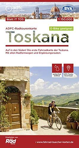 ADFC-Radtourenkarte IT-TOS Toskana, 1:150.000, reiß- und wetterfest, GPS-Tracks Download, E-Bike geeignet: Auf in den Süden! Die erste Fahrradkarte ... (ADFC-Radtourenkarte 1:150000)