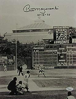 Bill Mazeroski Signed Photo - 11x14 B W 141509 - JSA Certified - Autographed MLB Photos
