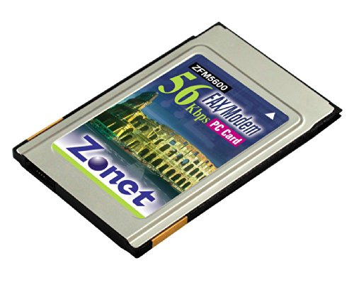 Zonet 56K/V.92 Data Fax PCMCIA Modem - Modems (56 Kbit/Sek, PCMCIA, ITU V.92 ITU V.34 33, 600-4, 800 ITU V.32 bis 14, 400-4, 800 ITU V.32 9, 600-4, 800)