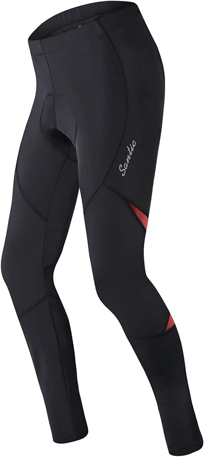 Santic Men's Cycling Bike Pants Ranking integrated 1st place low-pricing Compressi Padded Long 4D Bicycle