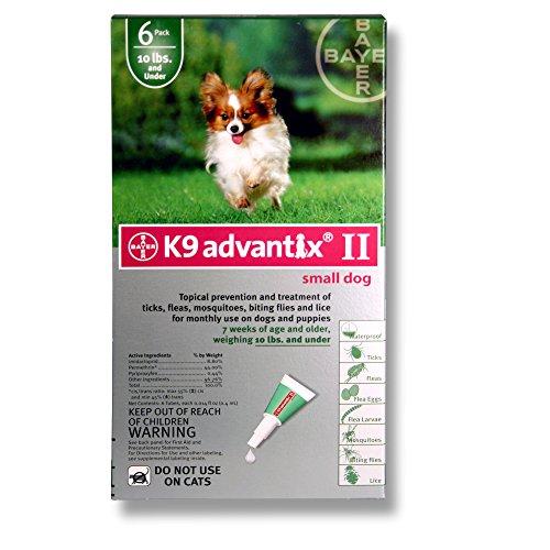 PSL Advantix II (Grn) Dog (0-10) 6 Month