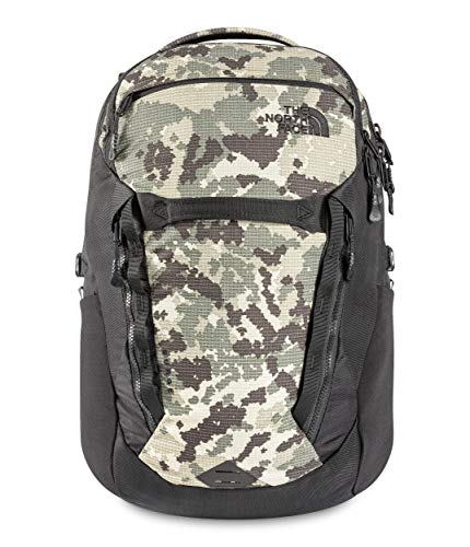 The North Face Surge Backpack, Burnt Olive Green Digi Topo Ripstop Print/TNF Black, OS