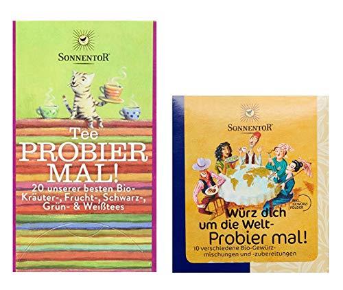 Sonnentor - 2er Probier Mal! Set - Tee (31,5 g) und Gewürz (50 g)
