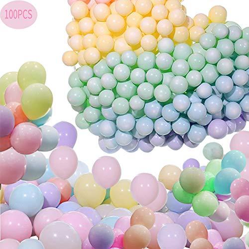 Rosie 100 Stück Latex Ballons Bunt Macaron Ballon Luftballons Pastell Luftballons für Luftballon Girlande für Hochzeiten, Geburtstagsfeiern,Engagement,Baby Dusche und Dekorationen