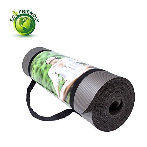 MIYOUDA NBR 15mm extra spessa 183cm di lunghezza non Esercizio Slip Mat Yoga per Pilates, Fitness e allenamento e ballo