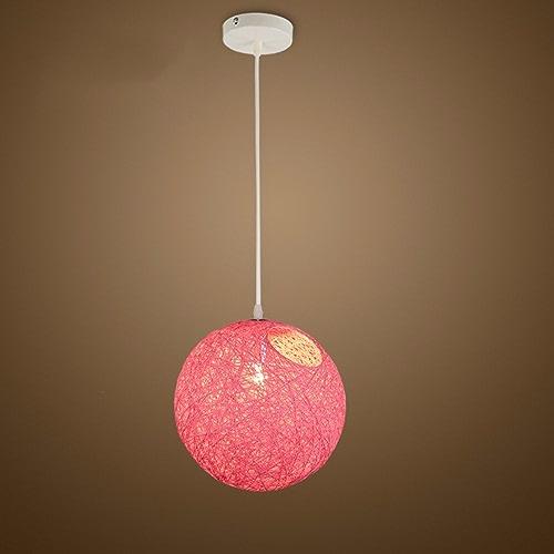 LighSCH Lustre Suspension Plafonnier Restaurant Nordic lumière Ball personnalité créatrice Salon Rose réglable 30cm
