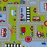 Jersey Straße, Fahrzeuge, bunt (50cm x 145cm)