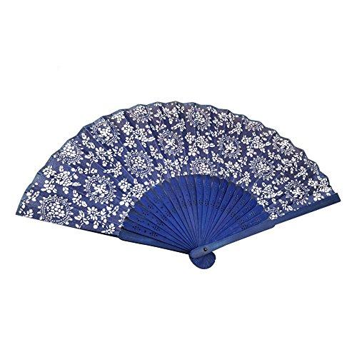 evantail pilant estilo Oriental japonés Superbe seda tejido de bambú plegable con la mano Fan para Occasions especiales y Decoration Famillale