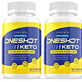 (2 Pack) One Shot Keto Pills Shark Tank Oneshot Keto Fat Burn to Lose Weight Loss Keto 1 Shot Limitless Tablets Pro 9pm Dr Juan Rivera Doctor Del Reviews (120 Capsules)