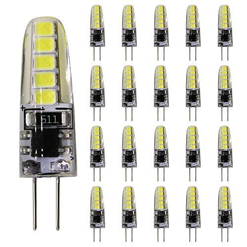 20 bombillas LED G4, luz blanca fría, 3 W, 220 V, lámpara de repuesto para bombillas halógenas de 25 W, 10 SMD 2835, CA 220-240 V, 240 lúmenes, 360 grados