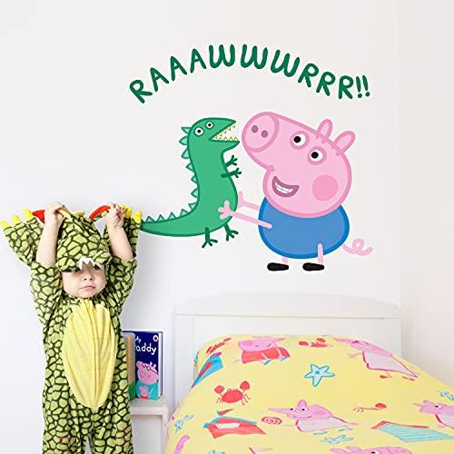 H421ld Peppa Pig George - Adhesivo decorativo para pared, diseño de dinosaurio, diseño de Peppa Pig