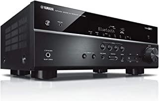 Yamaha RX-V485 5.1-Channel 4K Ultra HD AV Receiver with Wi-Fi Bluetooth and MusicCast Works with Alexa - Black - Black