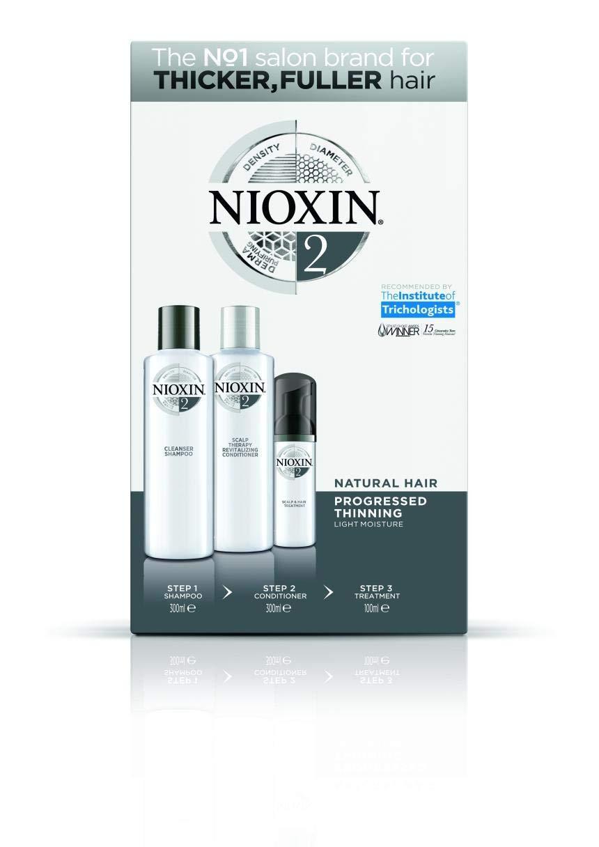Nioxin Full Kit Sistema 2 Revitalizador de Cabello (Cabello Natural Pérdida De Densidad Avanzada)