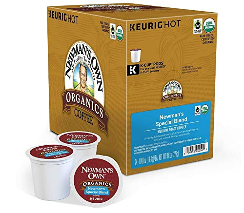 Newman's Own Organics Special Blend, Single-Serve Keurig K-Cup Pods, Medium Roast Coffee, 96 Count