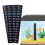 OurLeeme Tira del termómetro, 5Pack adhesivo adhesivo de temperatura de color de cambio para el tanque de peces de acuario de cerveza casera casera