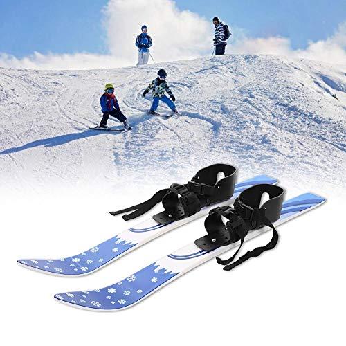 lahomie Kinderen Snowboards, ABS Kinderen Kids Snowboard Skis Dubbele Platen met Palen Skiën Beginner Kit, 65 cm Lengte