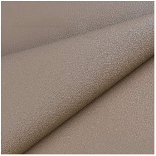 SSYBDUAN Möbelstoff Premium Bezugsstoff Zum Kunstledergewebe 160 X 50 cm, Hochwertiges PU-Kunstleder Feuerhemmendes Wasserdichtes Kunstleder-Bastelmaterial (Color : 6#Natural Yellow)