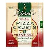 Pastorelli Ultra Thin Pizza Crust– Traditional Low Sodium Pizza Crust - 12 inch Pizza Crust –...