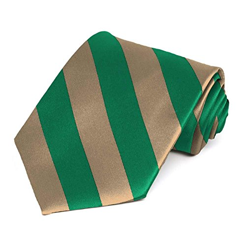 TieMart Green and Tan Striped Tie - http://coolthings.us
