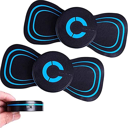 2 Stück Abnehmen Ems Arm Shaper Machin, Reaktivieren Ems Elektrisches Massagegerät Pad, Elektrische Brustvergrößerung Brustfrequenz Massagegerät, Elektrisches Brustmassage Pad (Lademodus)
