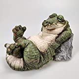 Alligator Crocodile Statue Indoor Outdoor Garden Decor Sculpture