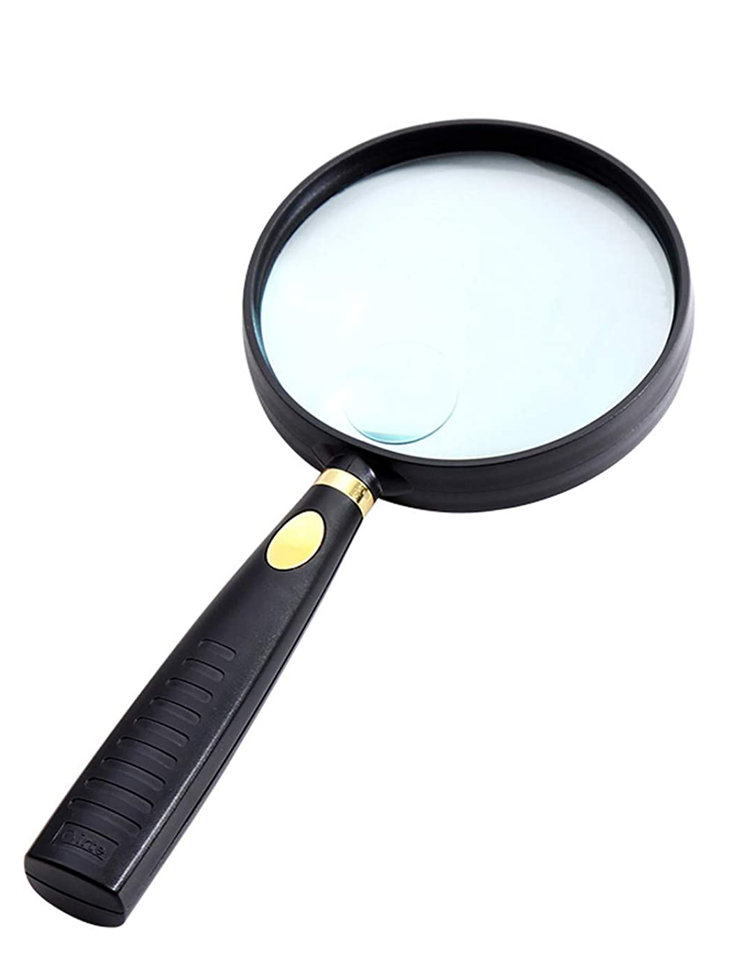 Ajhgqejfw Unknown Handheld 10 Times Magnifying Glass 20 Times Old Man high-Definition high-Power Optical Lens Reading Reading 90MM (Color : -, Size : -)