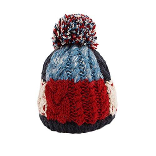 Infant Hiver au Chaud Tricot Beanie Baby Chapeau Rouge