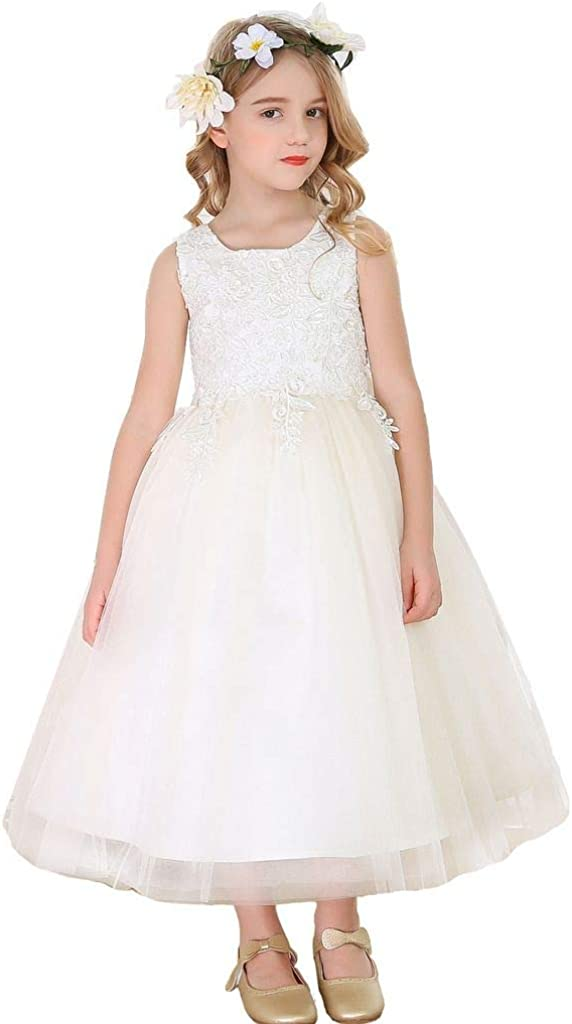 Bow Dream Lace Flower Girl Dress Outstanding Ba Communion OFFicial site Holy Wedding First