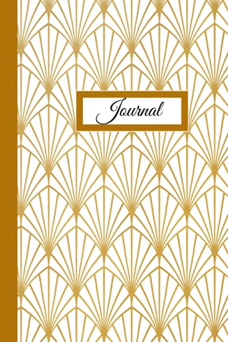 Vintage Gold and White Geometric Dot Grid Journal/Notebook