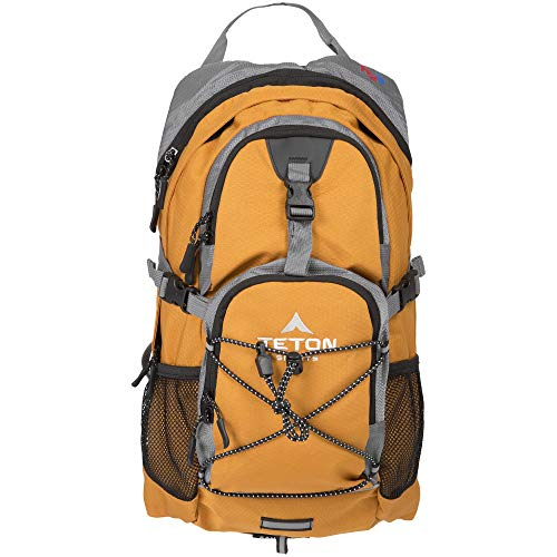 TETON Sports Oasis 1100 Hydration Pack; Free 2-Liter Hydration Bladder; For Backpacking, Hiking, Running, Cycling, and Climbing; Orange