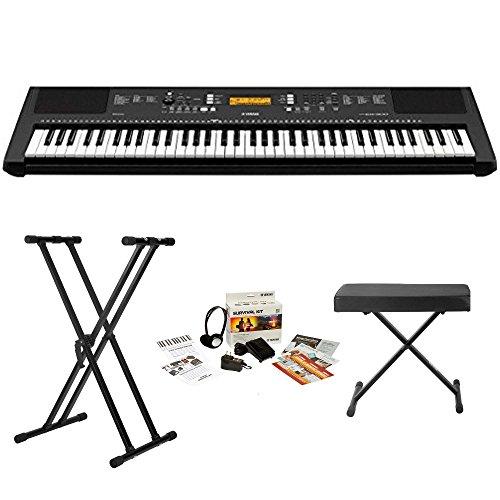 Buy Discount Yamaha PSREW300 76-key Portable Keyboard With Knox Adjustable Stand, Bench & Power Adap...