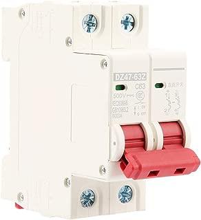 PBZYDU Mini Circuit Breaker, 2P DC 500V 63A MCB Safety Breaker DZ47-63Z-2P Protect Electric System
