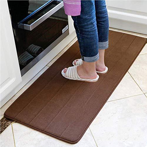 Memory Foam-tapijtloper, anti-slip waterabsorptie, keuken, badkamermat, zacht comfort, anti-fatgue vloermat, woondecoratie 16x24inch + 20x47inch E