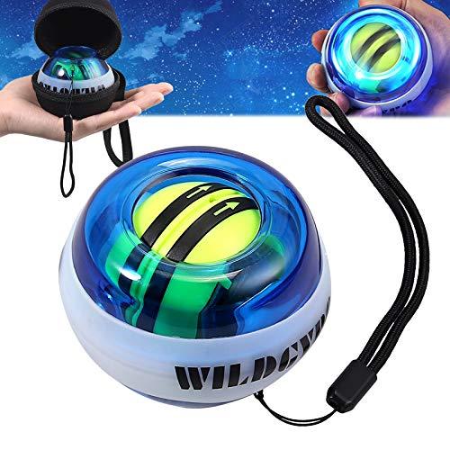 COLFULINE Classic Bola Giroscópica de Ejercicio Energy Ball Autostart Rotations Ball LED Light Basic Gyroscópico Handtrainer Muskeltrainer con Box para Entrenar la Mano y Brazos