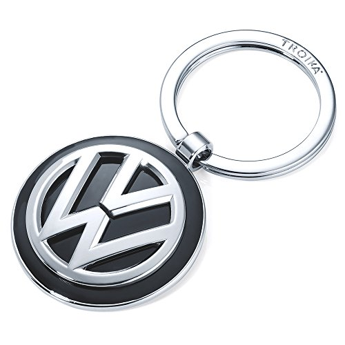 Schlüsselanhänger KEYRING - KR16-05/VW VW-Emblem 1 Schlüsselring zusätzlich Official licensed by Volkswagen - Metallguss glänzend - Original von TROIKA