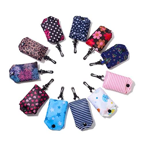 Repuhand 6 Pezzi Shopping Tote Bag Borsa per la Spesa Riutilizzabile Alimentari Borsa Impermeabile Shopping Bag Colore Casuale