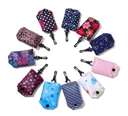 Repuhand 6Pcs Einkaufstaschen Faltbare Wiederverwendbare Einkaufstüten Leichte große Kapazität tragbare Einkaufstasche